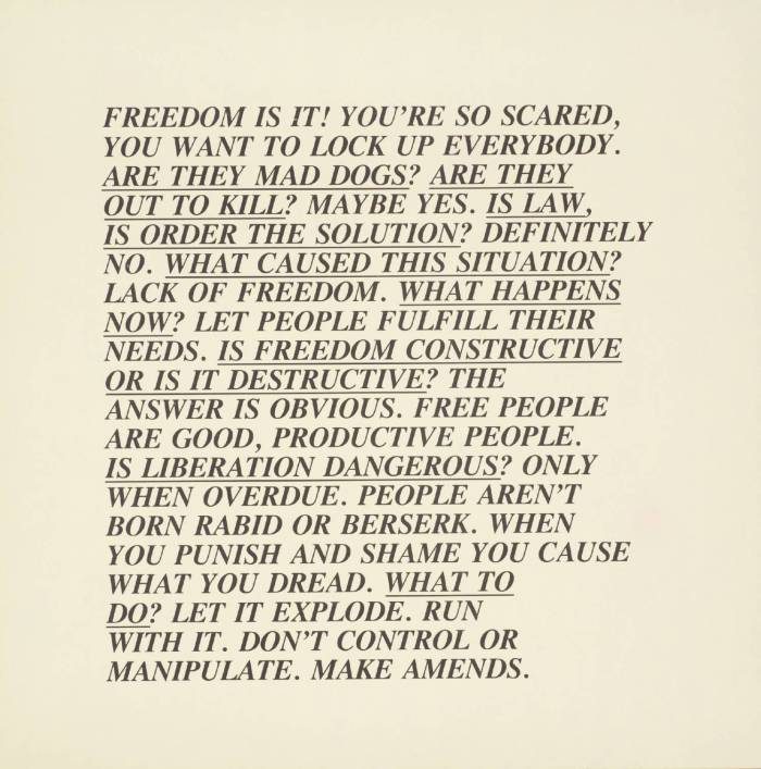 [no title] 1979-82 by Jenny Holzer born 1950